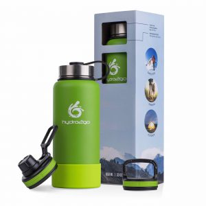stainless steel drinking bottle green