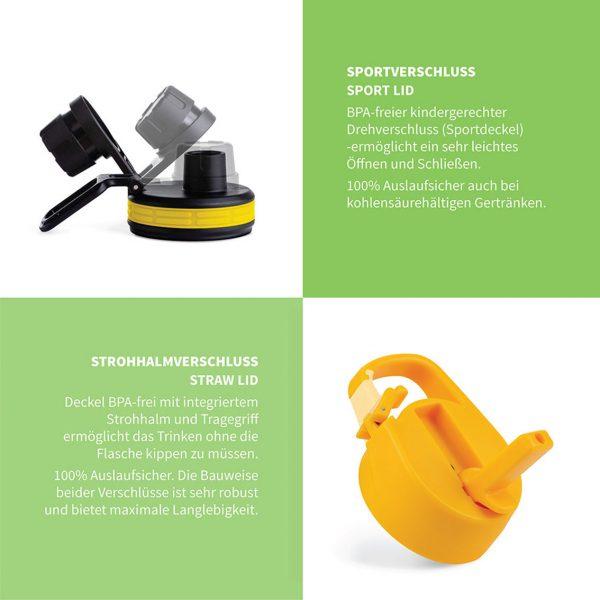 sportverschluss strohhalm gelb