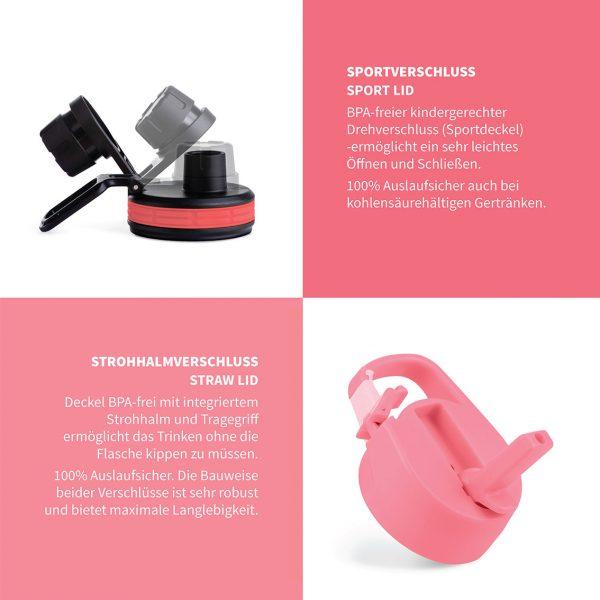 sportverschluss strohhalm rosa