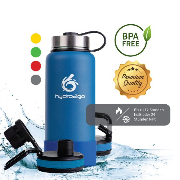 thermoskanne 1l blau