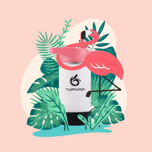 trinkflasche kinder flamingo