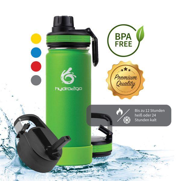 trinkflasche edelstahl kinder grün