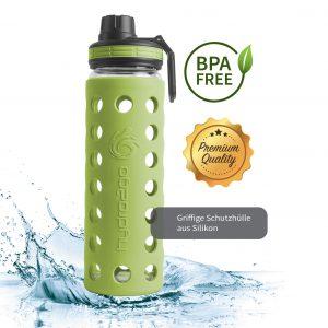 glas trinkflasche bpa-frei grün