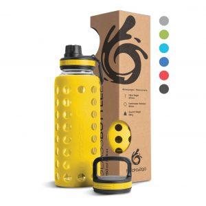 glas trinkflasche gelb 1000ml