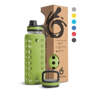 glas trinkflasche grün 1000ml