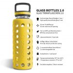 glas trinkflasche silikon 1l gelb