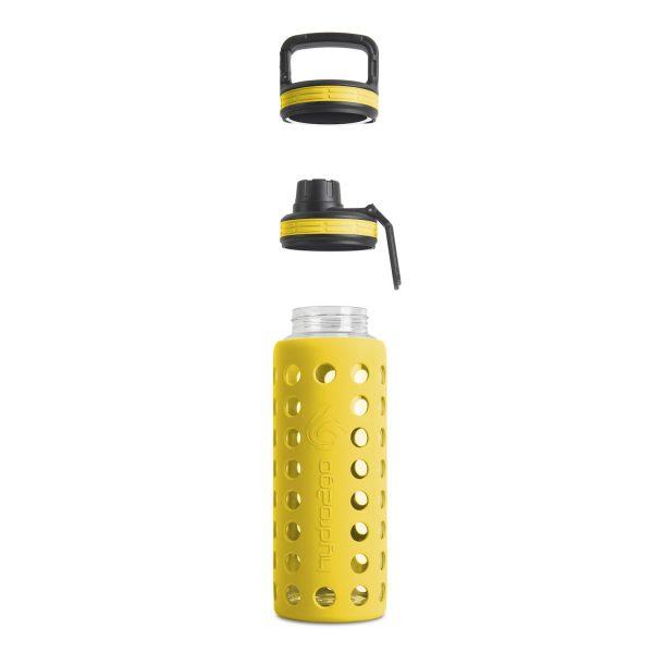 glas trinkflasche sodastream gelb