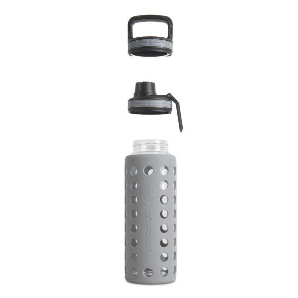 glas trinkflasche sodastream grau