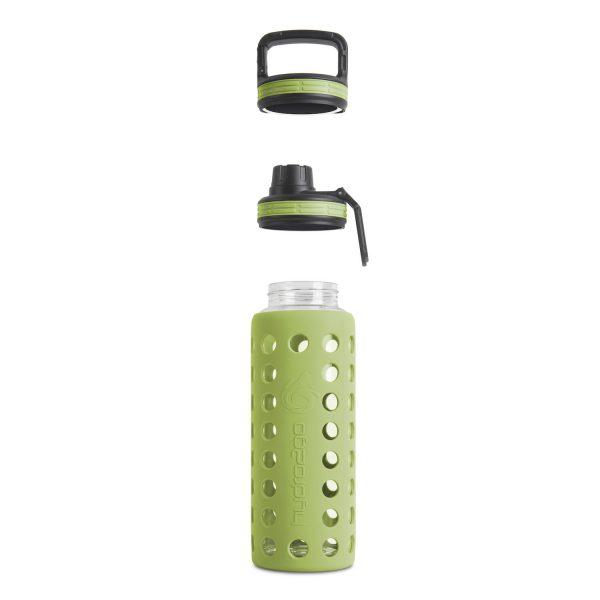 glas trinkflasche sodastream grün
