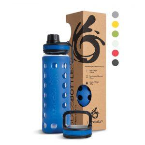 glasflasche outdoor blue