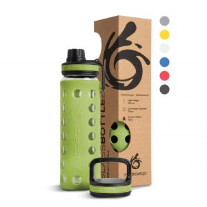 glasflasche outdoor olive green