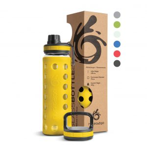 glasflasche outdoor yellow