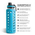 trinkflasche aus glas 1000ml blau