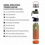 trinkflasche sport 500ml braun grün