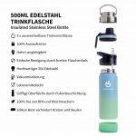 trinkflasche sport 500ml türkis blau